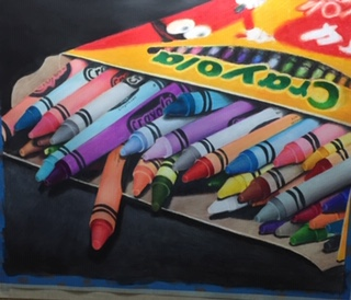 Drawing of Crayons